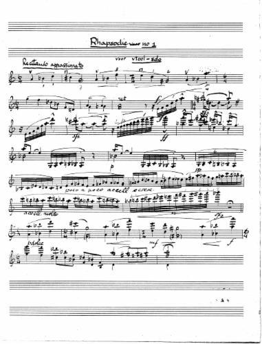 Kattenburg Rhapsodie voor viool no 1.jpg