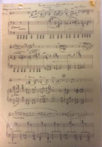 Sonate pour une clarinette et piano